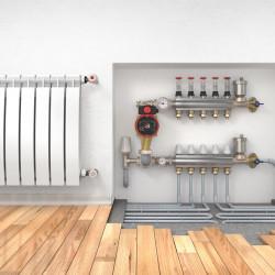 Eau de chauffage : eaux servant à remplir le circuit fermé (eau de réseau, eaux de forage...)